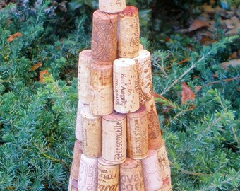 Recycled Wine Cork Tree handcrafted