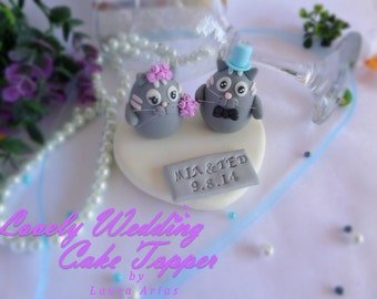 Cake topper Custom Wedding Cake Topper. lovely wedding cake topper cats-kitties.