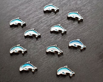 Dolphin Floating Charm for Floating Lockets-Ocean/Sealife Charm-Gift Ideas