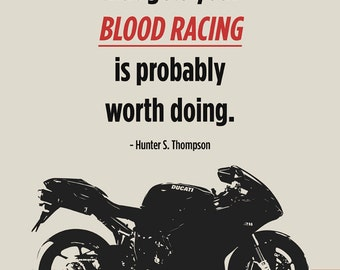"Ducati Superbike Print - ""Blood Racing"" #1"