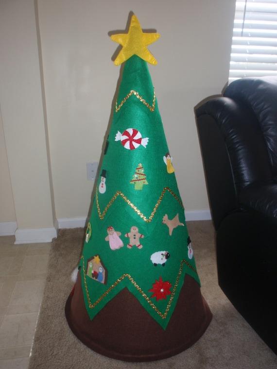 3d felt christmas tree toddler children preschool. Black Bedroom Furniture Sets. Home Design Ideas
