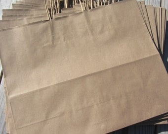 20 Pack - Kraft Paper Handle Bags(16x6x12)