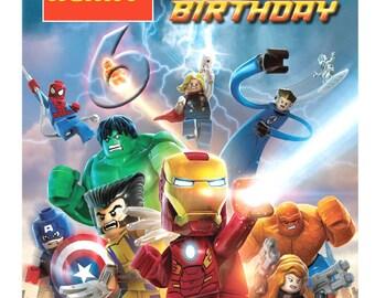 lego marvel  etsy, Birthday card