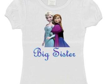 Little/Big Sister Custom Frozen Shirt