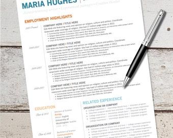 items similar to the resume modern custom