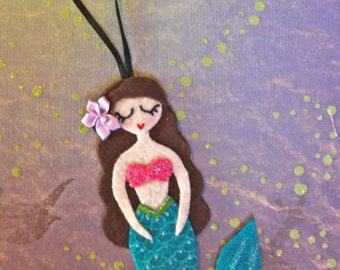 Mermaid Ornament or Gift Tag