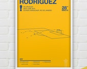 James Rodriguez vs Uruguay Giclee Print