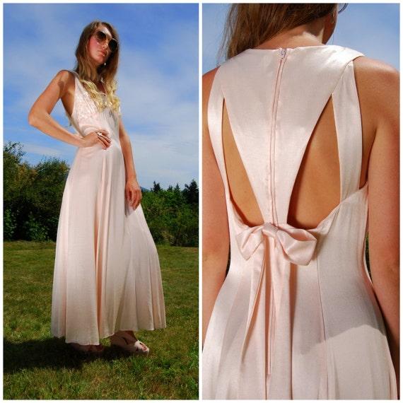Jessica Mcclintock Gunne Sax Champagne Pink Sequin Dress Cut