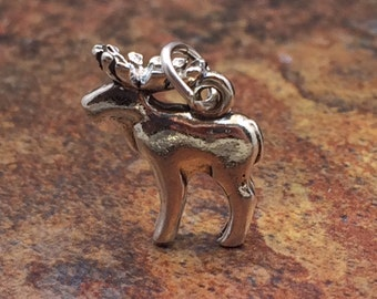 Moose Charm, Moose Pendant, Sterling Silver Charm, Sterling Silver Pendant, Animal Charm, PS0627