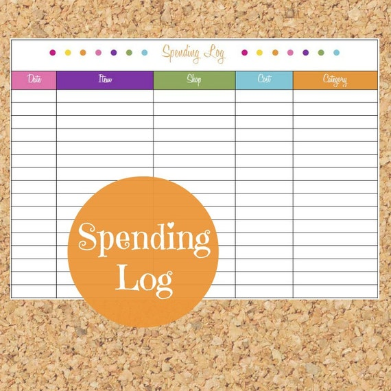 items similar to spending log