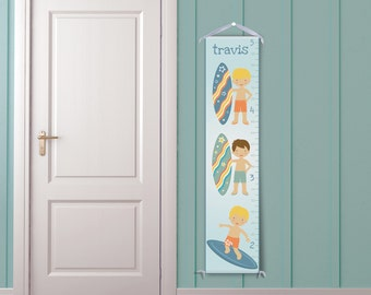 Surfing Boys Personalized Growth Chart
