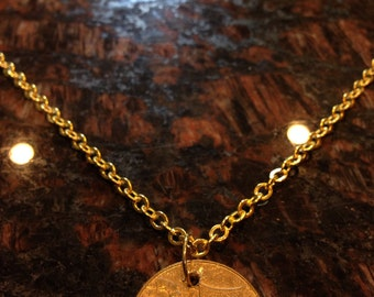 Malaysia 1 ringgit coin necklace