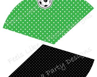 Soccer Treat Cones - Instant Download