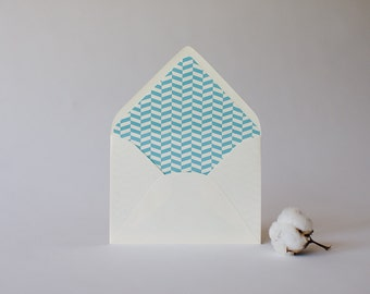 herringbone lined envelopes (25 color options) - sets of 10