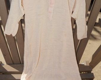 Vintage Baby Peach Nightgown Bunter- Circa 1973