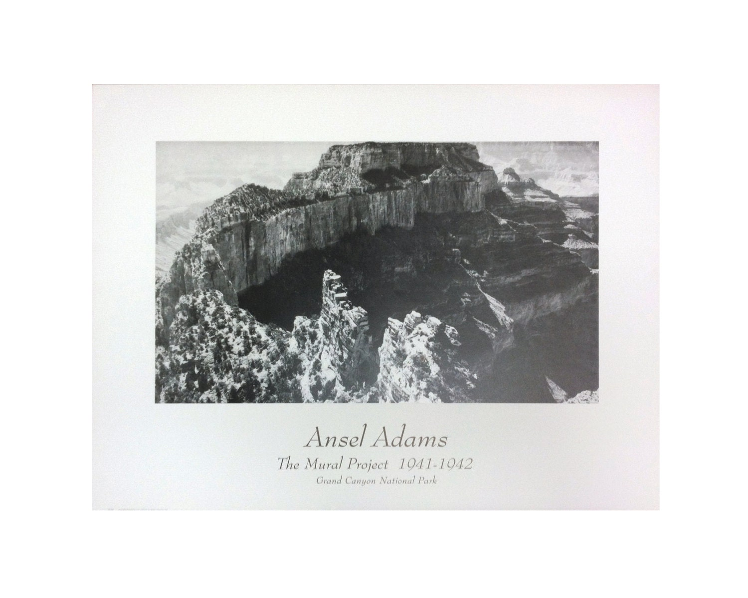 Vintage ansel adams grand canyon national park the for Ansel adams the mural project 1941 to 1942