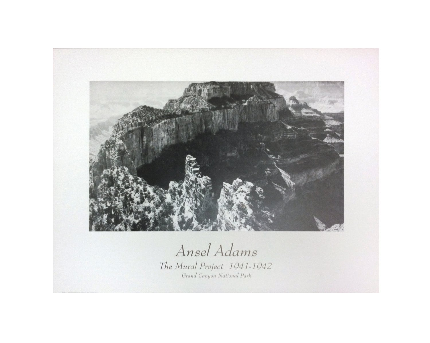 Vintage ansel adams grand canyon national park the for Ansel adams mural project posters