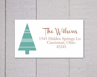 Christmas Return Address Stickers, Christmas Return Address Labels, Return Address Stickers (#314)