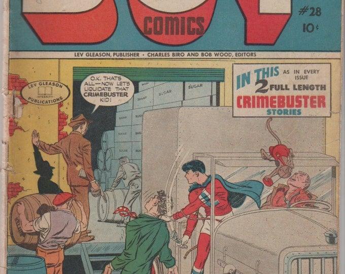 Boy Comics; Vol 1, 28 Golden Age Comic Book. GD (2.0)  June 1946.  Lev Gleason Publications.