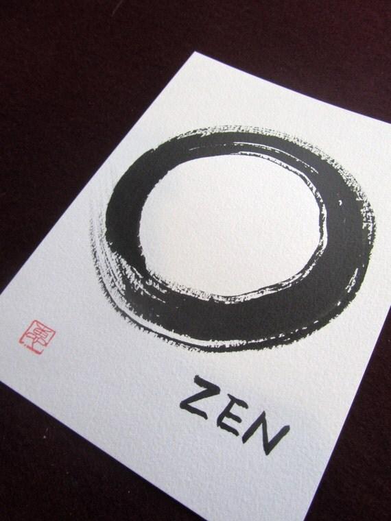 Original Enso Zen Painting Throw Pillows: ENSO ZEN Shodo Japanese Calligraphy : Original By ZenRiverArt