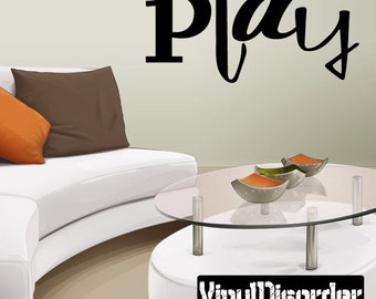 Play Wall Decal - Vinyl Decal - Wall Decal - Mv004ET
