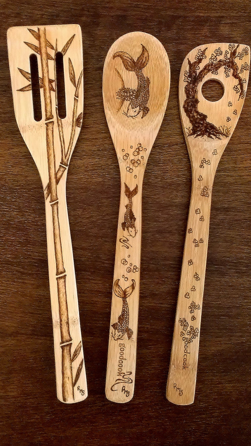Asian Wooden Spoon Set by KitchenSmiles on Etsy