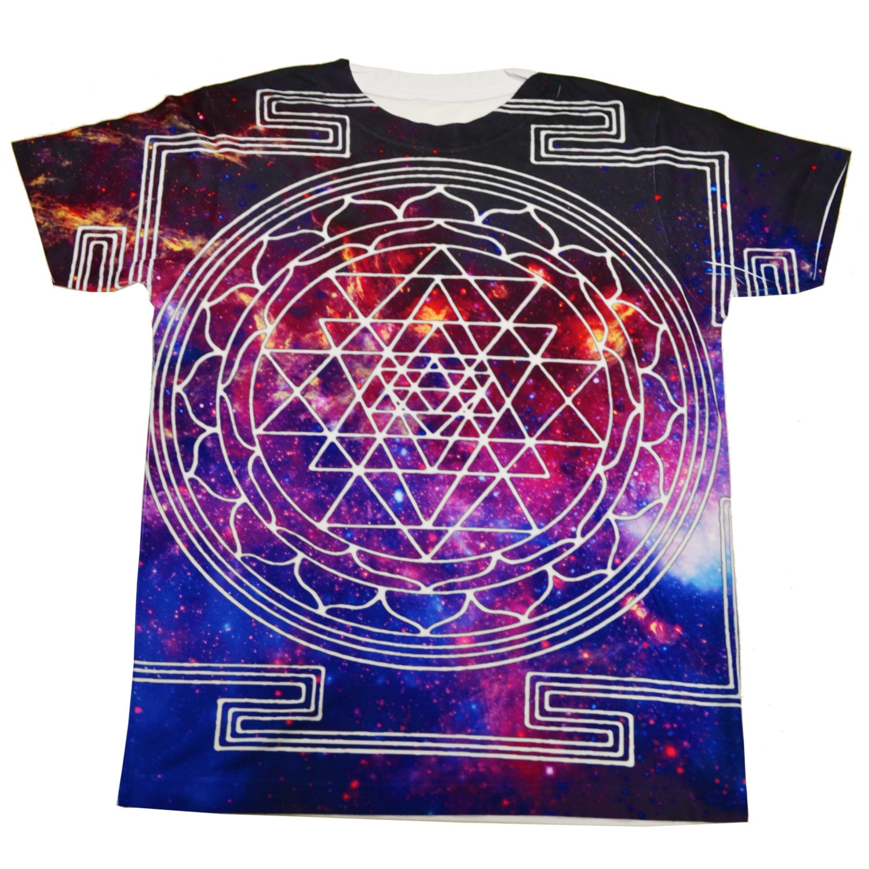 Sacred Galaxy T Shirt Short Sleeve Medium Form Fitting