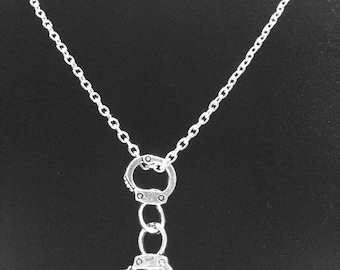 Handcuff Police Officer Wife Necklace