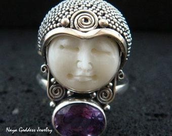 Sterling Silver & Amethyst Naya Goddess Ring NG- 660