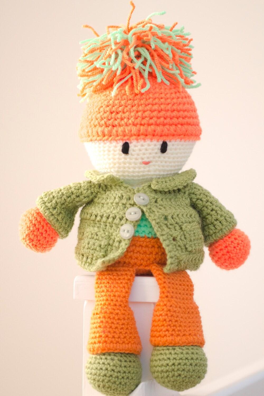 PDF George Doll Crochet download pattern