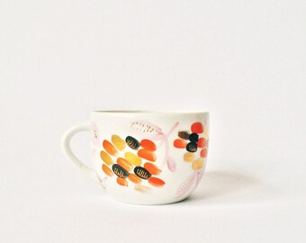 Vintage Porcelain Teacup Hand painted