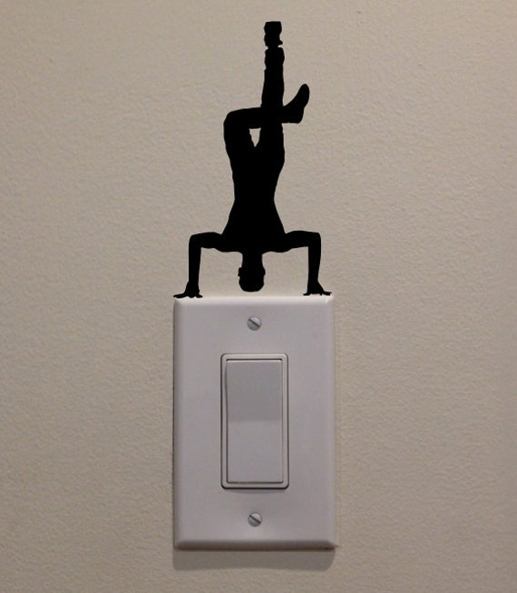 Hip hop dancer headstand on light switch bedroom home decor for Hip home decor
