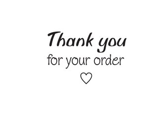 Thank you  for your order rubber stamp
