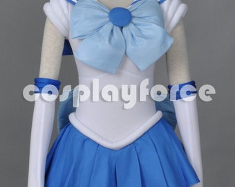 Sailor Moon Sailor Mercury Cosplay Costume With Two Headwears