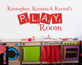 Kids Wall Decal Playroom Decor Wall Decal with Name Kids Playroom Ideas Boys Girls Room Vinyl Lettering