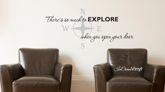 Wall Decal -There's So Much To Explore- Home Decor for Nursery Playroom Family Room