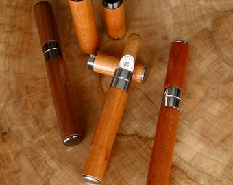 50mm Wooden Travel Cigar Tube