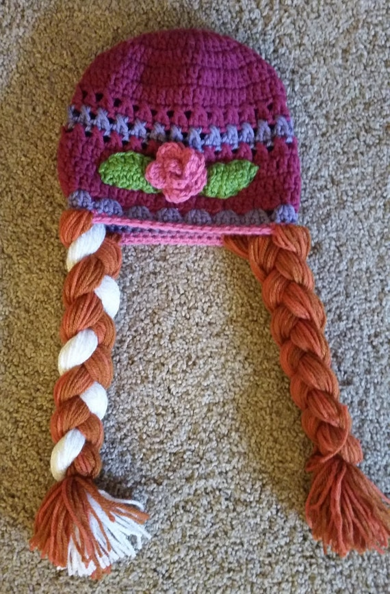 Crochet Pattern Anna Hat : Crochet Frozen Inspired Anna Hat with Braids by