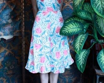 Bright Novelty Print Dress ~Size Small
