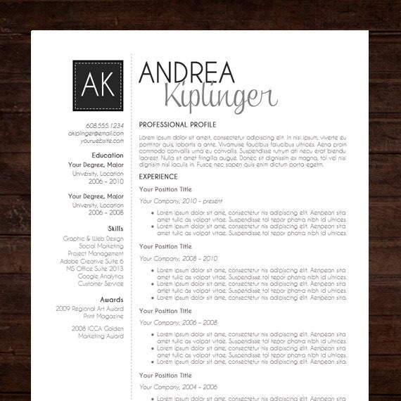 CV Template Professional Curriculum Vitae Design by