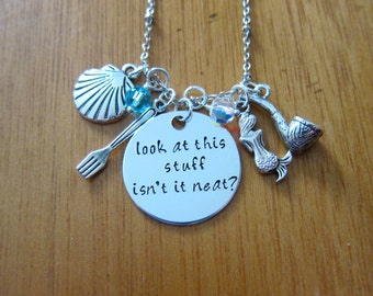 Little Mermaid Necklace Ariel Inspired. Look at this stuff isn't it neat?. The Little Mermaid necklace gift. Little Mermaid jewelry necklace
