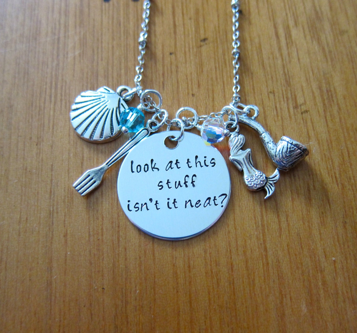 Little Mermaid Necklace Ariel Inspired. Look at this stuff