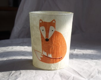Glass Candle Holder - Fox, Made to Order