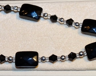 Classic Black and Sterling Silver Bracelet