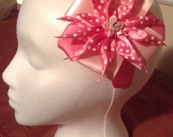 Pink Star Bow