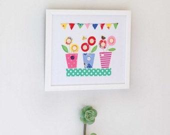 Lollipop Flowers Picture Sewing Pattern 803081