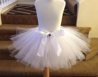 White Poofy Flowergirl Skirt