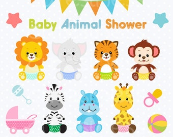 baby animal clipart baby jungle animals clipart baby shower clipart us