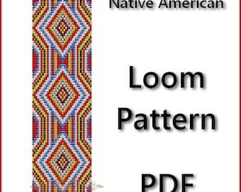 Native American Loom Pattern Beading - Tutorial PDF - instant download