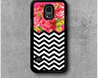 Samsung Galaxy S5 Mini Case Chevrons Flowers + Free Worldwide Shipping